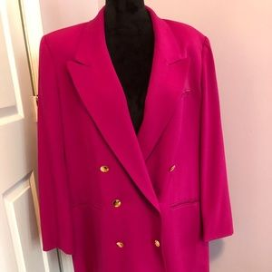 Austin Reed Raspberry Double Breasted Blazer